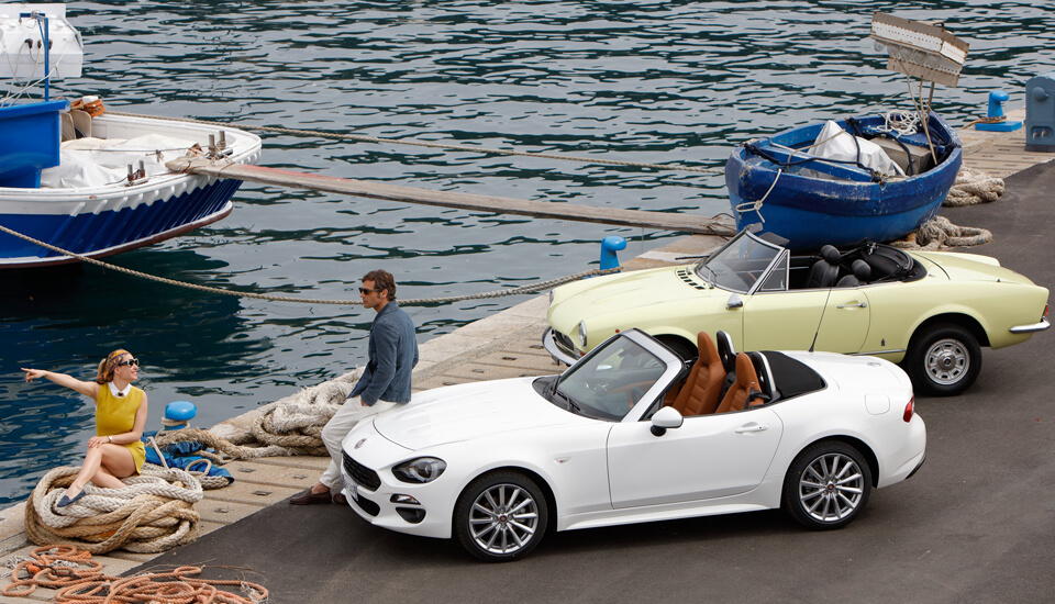 The timeless Fiat 124 Spider is here