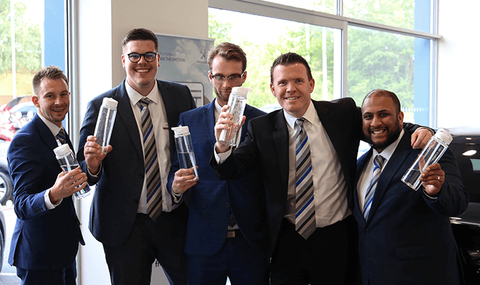 Arbury do their bit for the environment with branded water bottles