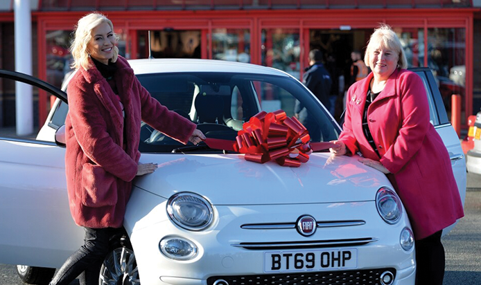 Arbury in Walsall provides brand-new Fiat 500 for prize giveaway